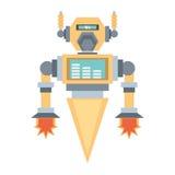 Robotic mechanical engineering rocket. Illustration eps 10 stock illustration