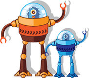 Robotic Monster. Illustrations eps vector Royalty Free Stock Photography