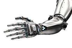 Robotic nå för hand Royaltyfria Bilder