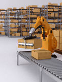 Robotic Palletising Stock Photography