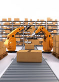 Robotic Palletising and Packaging Stock Photography