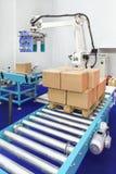 Robotic palletizer Arkivfoton