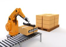 Robotic Palletizing Royalty Free Stock Photos