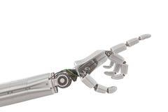 Robotic plast- hand som isoleras på vit bakgrund framförd illustration 3d Arkivbilder