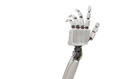 Robotic plastic hand isolated on white background. 3D rendered illustration Royalty Free Stock Photography