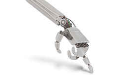 Robotic plastic hand  on white background. 3D rendered illustration Stock Images