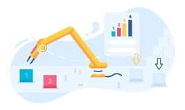 Robotic process automation concept illustration with a robot vector illustration