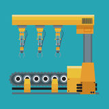 Robotic production line machinery technology Stock Photography