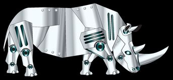 Robotic Rhino Royalty Free Stock Photo
