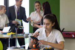 Robotic technology in school Stock Images