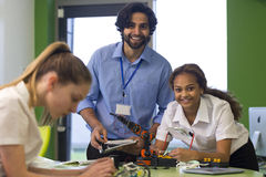 Robotic technology in school Royalty Free Stock Photography