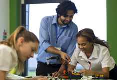 Robotic technology in school Royalty Free Stock Images