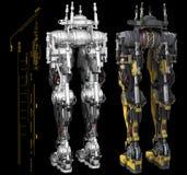 Robotic torso graphics Stock Photography