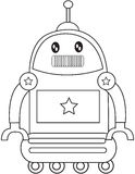 Robotic toy coloring page Royalty Free Stock Image