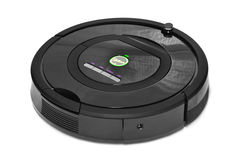 Robotic vacuum cleaner Royalty Free Stock Images