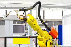 robotic welder för arm Arkivfoto