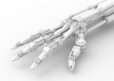 robotic white för hand Fotografering för Bildbyråer