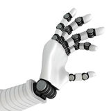 Robotic White Hand Arm Holding Empty Space Royalty Free Stock Photo