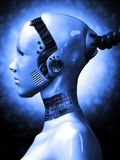 Robotic Woman. From outter space Royalty Free Stock Photography