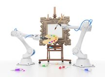 Robotica creativa Fotografie Stock