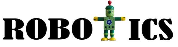 Roboticaetiket Stock Fotografie