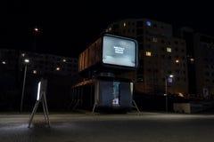 Robotically operated futuristic winebar restaurant Cyberdog in Prague, Czech Republic stock image