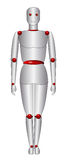 Robotics. 2d robotics in white background vector eps Stock Photography