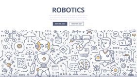 Robotics Doodle Concept Stock Photography