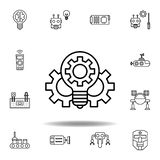 Robotics innovation outline icon. set of robotics illustration icons. signs, symbols can be used for web, logo, mobile app, UI, UX