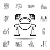 Robotics missile outline icon. set of robotics illustration icons. signs, symbols can be used for web, logo, mobile app, UI, UX vector illustration