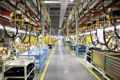 Robotics production lines Stock Image