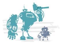 Robotidentificatie Stock Foto