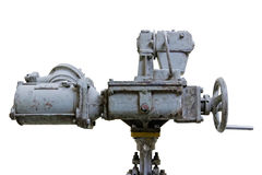 Robotized Faucet na bielu Obrazy Stock