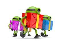 Robotkörning till ferier royaltyfri illustrationer