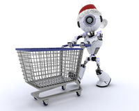 Robotkerstmis het winkelen vector illustratie