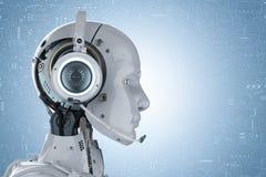 Robotkläderhörlurar med mikrofon royaltyfri illustrationer