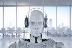 Robotkläderhörlurar med mikrofon stock illustrationer