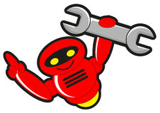 Robotkonstruktion stock illustrationer