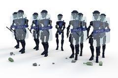 Robotkravallpolis Arkivbild