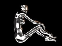 robotkvinna Arkivbild