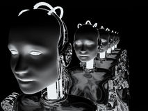 Robotkvinnor 6 royaltyfri illustrationer