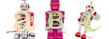 Robotleksaker royaltyfria bilder