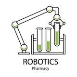 Robotlemlogo royaltyfri illustrationer