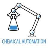Robotlemlogo stock illustrationer