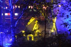 Robotlichten Stock Foto
