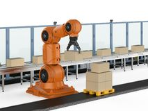 Robotlopende band stock illustratie