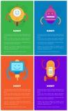 Robotmalplaatjes, Mechanische Droids-Inzameling royalty-vrije illustratie