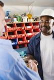 Robotnicze chwianie ręki Zdjęcia Stock