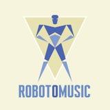 RobotoMusic - vector Logo Template Imagen de archivo libre de regalías