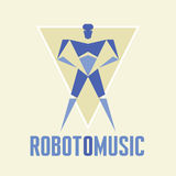RobotoMusic - Vector Logo Template Royalty Free Stock Image